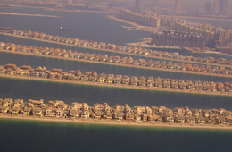 Palm Jumeirah is currently the largest man-made island in the world