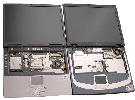 Plus rigide grâce au son renfort métallique, le XBook est aussi plus léger...