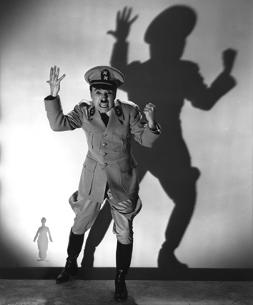 Charlie Chaplin in THE GREAT DICTATOR - Click to view a slideshow of more stills from the film