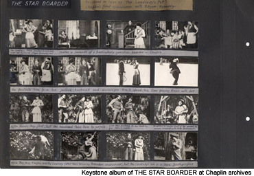 This Keystone album of THE STAR BOARDER was probably compiled in 1937 by H.D. Waley of the British Film Institute