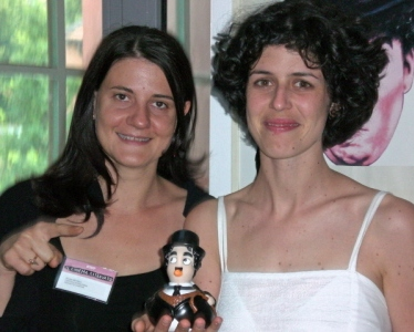 Cecilia Cenciarelli (right) and her assistant Michaela Zegna