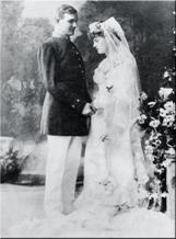 Casimir and Constance on their weddind day