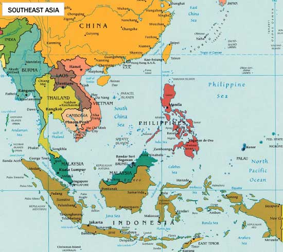 map of southeast asia, south east asia map