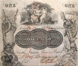 Dundee Union Bank £1 note 1835