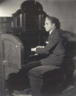 Charlie Chaplin at the piano