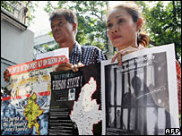 Burma campaigners in Thailand
