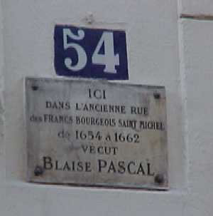 Plaque for Pascal