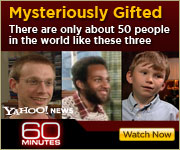 View the 60 MINUTES story about savants
