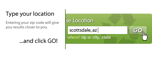 Step 2 - Tell us where you live: City, State or Zip