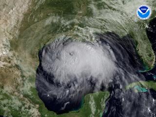 Hurricane Ike regional imagery, 2008.09.12 at 1345Z. Centerpoint Latitude: 28:16:20N Longitude: 94:46:42W.