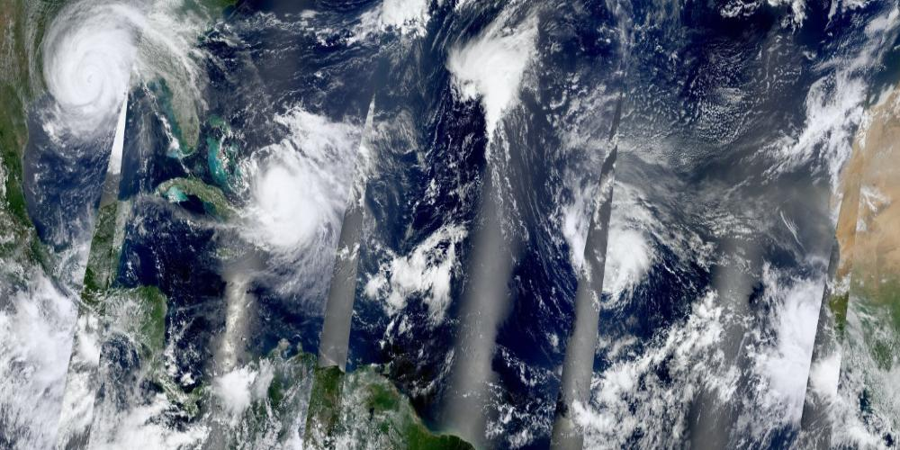 MODIS Terra 250m Tropical Storms across the Atlantic