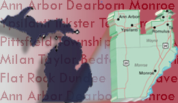 Map of Michigan's 15th Congressional District