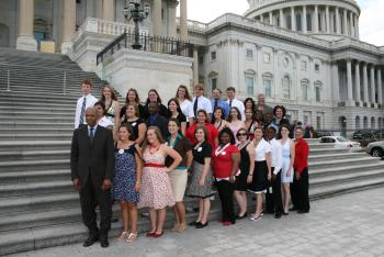 June 18, 2008 -- Rep. Jefferson with Action Youth from the Louisiana District 2