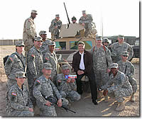 Congressman McCaul meets with the 136th Signal Battalion and Task Force Southern Lightning to discuss the war effort in Iraq