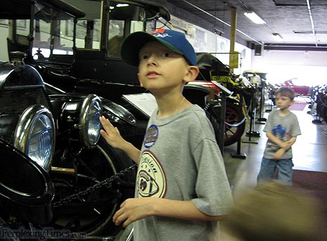 Antique cars at the Deer Lodge car museum