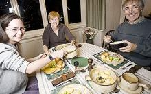 Anne Morgan's family at the dinner table - Cut your food bills in half