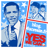 obama et le blog.4ucreate.fr yes we can , l'affiche