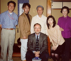 Mr. Benson with the Kitanashi family