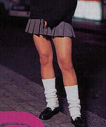 miniskirted highschool girl