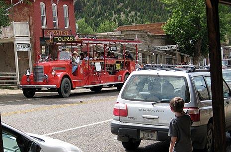 Firetruck tour in Virginia City