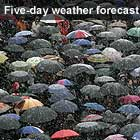 UK weather updates; Get a five-day forecast for your area