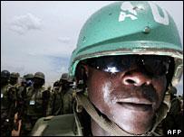 African Union soldiers in Darfur (file pic)