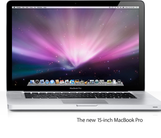 The new 15-inch MacBook Pro.