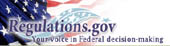Regulations.gov: Your voice in Federal decision-making superimposed on part of a U.S. flag. Below