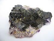 A picture of Deep blue fluorite crystals