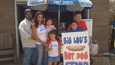 [Andrea and Ben Guajardo both work full-time, but began selling wieners with help from their four kids in November.]