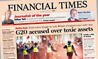 Financial Times: G20 front page
