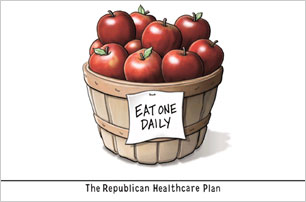 TODAY'S CARTOONS: Cartoonists' take on health care.