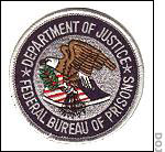 Department of Justice Federal Bureau of Prisons patch