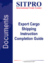 Export Cargo Shipping Instruction Completion Guide
