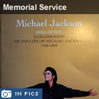 Program cover for the Michael Jackson memorial service