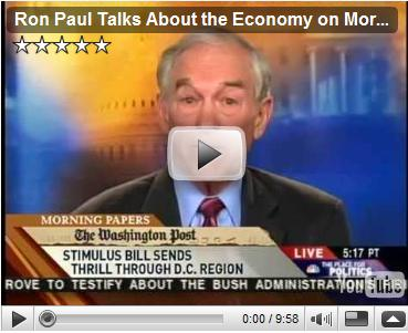Ron Paul Talks About the Economy on Morning Joe 1-27-09