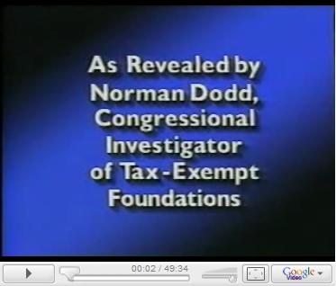 The Hidden Agenda of Tax Exempt Foundations for World Government