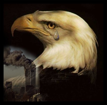 Oh shit a giant eagle has eaten one of the WTC towers - Wonkette