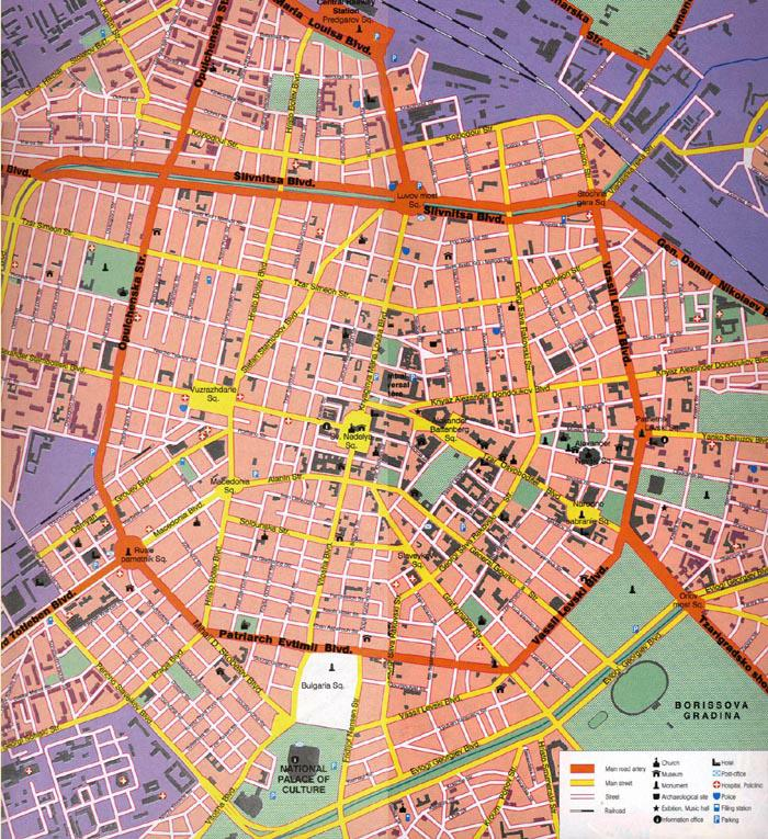 Map of Sofia - click to enlarge