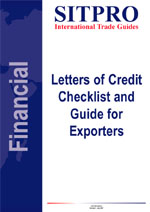 Letters of Credit - Checklist and Guide for Exporters