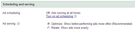 Optimize: Show better performing ads more often