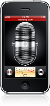 The Voice Memos application.