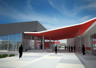 Artists Rendering of the New Gungahlin Library
