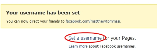 set a username
