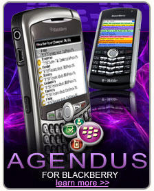 Agendus for BlackBerry - Only $19.95 - Learn More >>