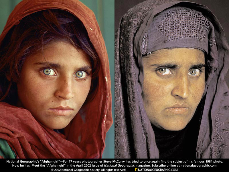 Photo: Afghan Girl Before and After
