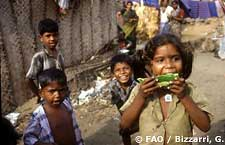 Children in a Madras slum
