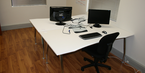 A desk at Woo HQ: Not empty anymore...