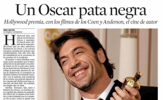 Oscar a Bardem