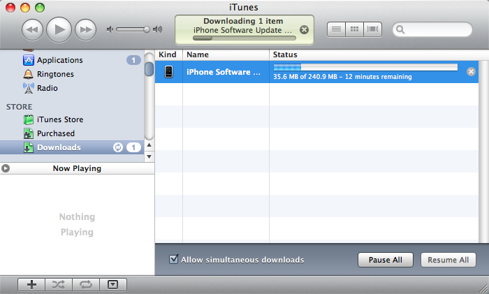 Download using iTunes